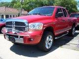 2006 Inferno Red Crystal Pearl Dodge Ram 1500 SLT Quad Cab 4x4 #51289176