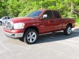 2008 Inferno Red Crystal Pearl Dodge Ram 1500 Big Horn Edition Quad Cab 4x4 #51289937