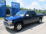 2000 Indigo Blue Metallic Chevrolet Silverado 1500 LS Extended Cab 4x4 #51288281