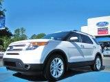 2011 White Platinum Tri-Coat Ford Explorer Limited 4WD #51288293