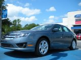 2011 Steel Blue Metallic Ford Fusion SE #51288300