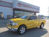 2009 Detonator Yellow Dodge Ram 1500 Big Horn Edition Quad Cab 4x4 #51288342