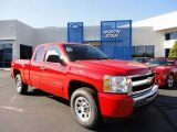 2011 Victory Red Chevrolet Silverado 1500 LS Extended Cab 4x4 #51288484