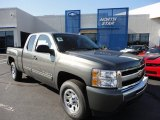 2011 Steel Green Metallic Chevrolet Silverado 1500 LS Extended Cab 4x4 #51288485