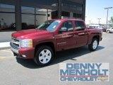 2008 Deep Ruby Metallic Chevrolet Silverado 1500 LT Crew Cab 4x4 #51289014