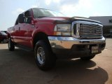 2002 Red Clearcoat Ford F250 Super Duty Lariat Crew Cab 4x4 #51288986