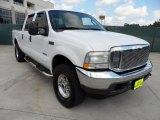 2003 Oxford White Ford F250 Super Duty Lariat Crew Cab 4x4 #51425254
