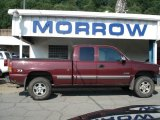 2002 Dark Carmine Red Metallic Chevrolet Silverado 1500 LS Extended Cab 4x4 #51425140