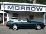 1991 Dark Emerald Green Ford Mustang LX 5.0 Convertible #51425141