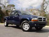 2004 Patriot Blue Pearl Dodge Dakota Sport Quad Cab #5132048