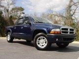 2004 Patriot Blue Pearl Dodge Dakota Sport Quad Cab #5132048