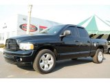 2004 Black Dodge Ram 1500 SLT Quad Cab #5136066