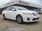 2011 Super White Toyota Corolla LE #51425324