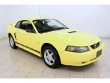 2002 Zinc Yellow Ford Mustang V6 Coupe #51425521
