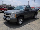 2011 Steel Green Metallic Chevrolet Silverado 1500 Regular Cab 4x4 #51479433