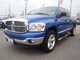 2007 Electric Blue Pearl Dodge Ram 1500 SLT Quad Cab #5125588