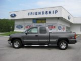 2001 Medium Charcoal Gray Metallic Chevrolet Silverado 1500 LS Extended Cab 4x4 #51478826
