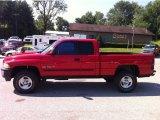 2001 Flame Red Dodge Ram 1500 SLT Club Cab 4x4 #51542232