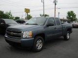 2008 Blue Granite Metallic Chevrolet Silverado 1500 LT Extended Cab 4x4 #51542265