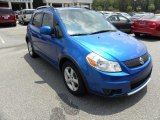 2007 Techno Blue Metallic Suzuki SX4 Convenience AWD #51576149