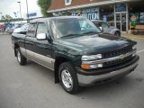 2002 Forest Green Metallic Chevrolet Silverado 1500 LS Extended Cab 4x4 #51576080