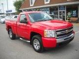2010 Victory Red Chevrolet Silverado 1500 LS Regular Cab 4x4 #51576081