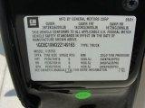 2002 Chevrolet Silverado 1500 LS Crew Cab Info Tag