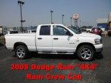 2008 Bright White Dodge Ram 1500 Laramie Quad Cab 4x4 #51576426