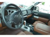 2008 Toyota Tundra Limited Double Cab Red Rock Interior