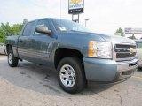 2011 Blue Granite Metallic Chevrolet Silverado 1500 LS Crew Cab #51576136