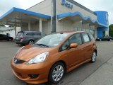 2011 Orange Revolution Metallic Honda Fit Sport #51614088
