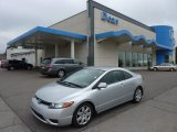 2007 Alabaster Silver Metallic Honda Civic LX Coupe #51614102