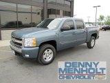 2007 Blue Granite Metallic Chevrolet Silverado 1500 LT Crew Cab 4x4 #51613960