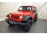 2011 Flame Red Jeep Wrangler Sport 4x4 #51613538