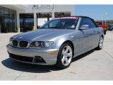 2005 Silver Grey Metallic BMW 3 Series 325i Convertible #51613863