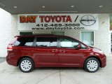 2011 Salsa Red Pearl Toyota Sienna LE AWD #51613576