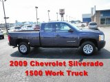 2009 Imperial Blue Metallic Chevrolet Silverado 1500 Extended Cab #51614223