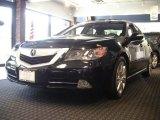 2010 Crystal Black Pearl Acura RL Technology #51614233