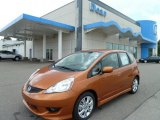2011 Orange Revolution Metallic Honda Fit Sport #51614083