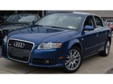 2008 Ocean Blue Pearl Effect Audi A4 2.0T quattro S-Line Sedan #51669792