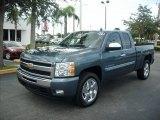 2011 Blue Granite Metallic Chevrolet Silverado 1500 LT Extended Cab #51669633