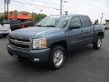 2008 Blue Granite Metallic Chevrolet Silverado 1500 LTZ Crew Cab 4x4 #51670136