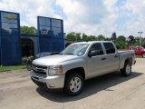 2011 Sheer Silver Metallic Chevrolet Silverado 1500 LT Crew Cab 4x4 #51669646