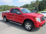 2010 Vermillion Red Ford F150 STX SuperCab 4x4 #51670155