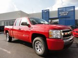 2011 Victory Red Chevrolet Silverado 1500 LS Extended Cab 4x4 #51669753