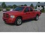 2005 Flame Red Dodge Ram 1500 SLT Quad Cab #51670073