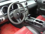 2005 Ford Mustang V6 Premium Coupe Red Leather Interior