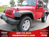 2011 Flame Red Jeep Wrangler Sport S 4x4 #51723650