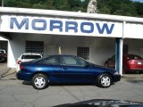 2002 Indigo Blue Metallic Chevrolet Cavalier Coupe #51723606
