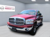 2007 Inferno Red Crystal Pearl Dodge Ram 1500 SLT Quad Cab 4x4 #51724253